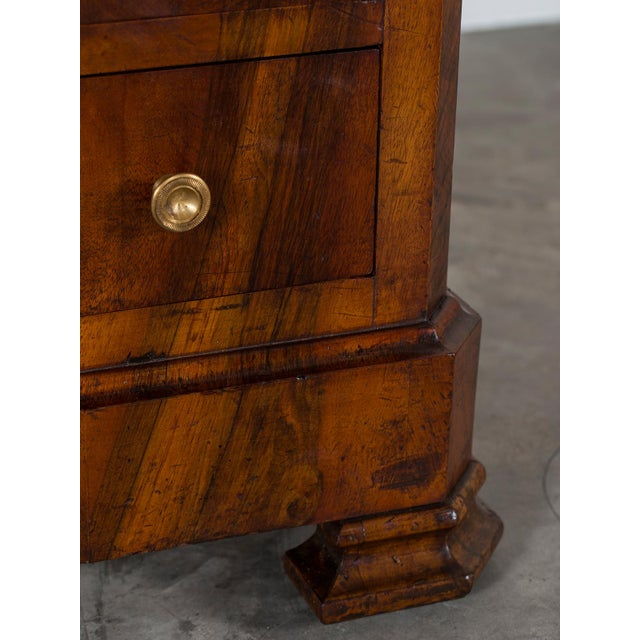 Antique French Louis Philippe Burl Walnut Chest with Marble Top circa 1850 - Image 9 of 11