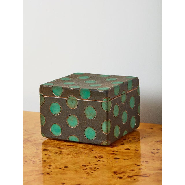 2010s Matthew Ward Studio Ceramic Box For Sale - Image 5 of 5