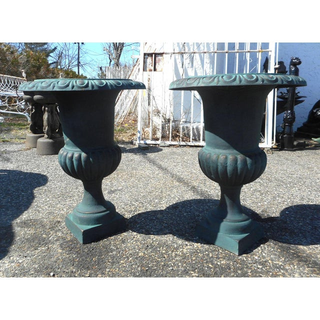 Pair of Cast Iron Urns - Image 5 of 5