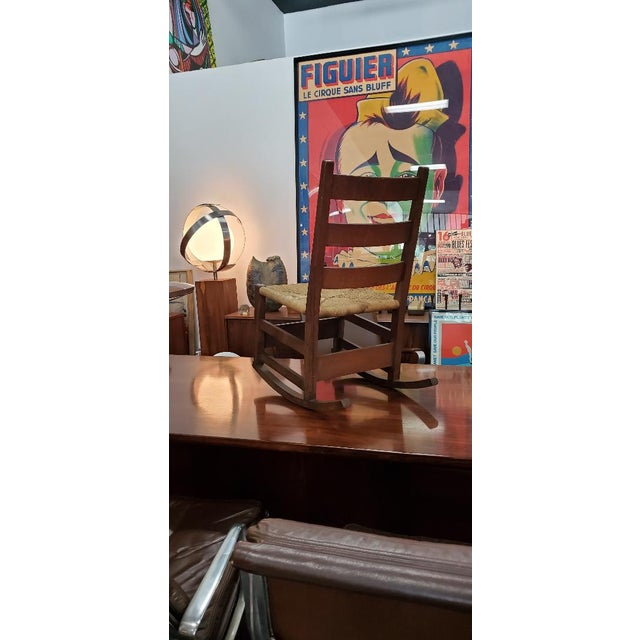 Stickley Gustav Stickely Early Arts & Crafts Mission Oak Youth Rocker Chair For Sale - Image 4 of 13