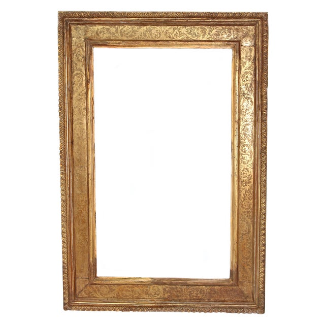 Monumental Hand-Carved and Gilded Florentine Picture Frame For Sale