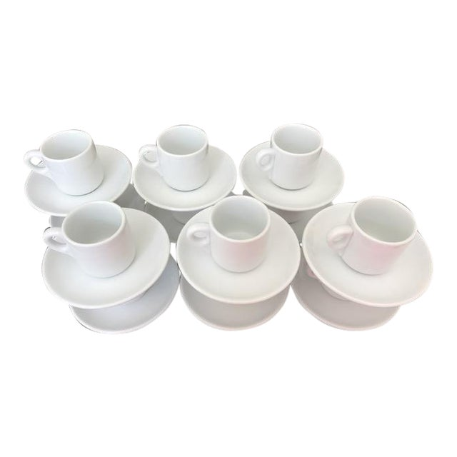 Vintage Richard Ginori Espresso Cups & Saucers - Set of 12 For Sale