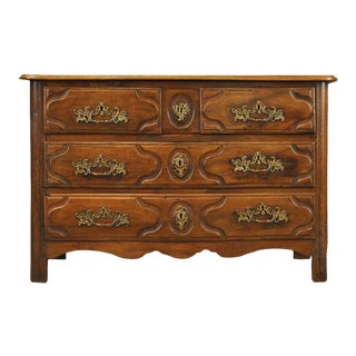 Walnut Louis XV Commode For Sale