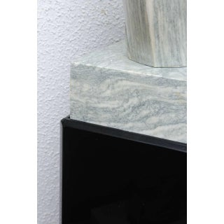 """Modernist """"Lovers"""" Heart Shaped Marble Sculpture on Black Lucite Pedestal Preview"""