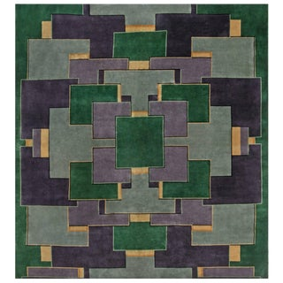 Vintage Chinese Deco Rug For Sale