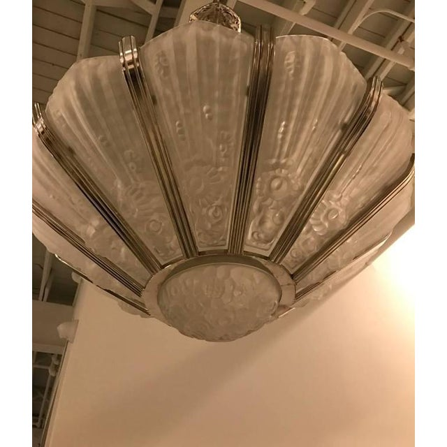 Genet Et Michon French Art Deco Chandelier - Image 3 of 9