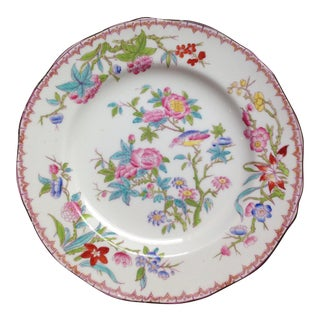 Antique English Mintons Floral Luncheon Plates For Sale