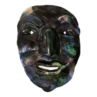 1990s Studio Pottery Mask For Sale