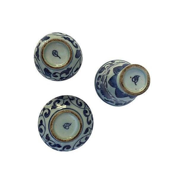 Blue & White Asian Vases - Set of 3 - Image 5 of 5