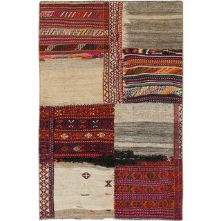 "Vintage Persian Flatweave Kilim Rug – Size: 4' 10"" X 7' 3"" For Sale"