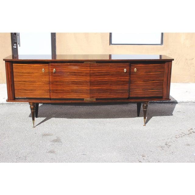 Black 1940s Art Deco Exotic Macassar Ebony Sideboard / Buffet For Sale - Image 8 of 13