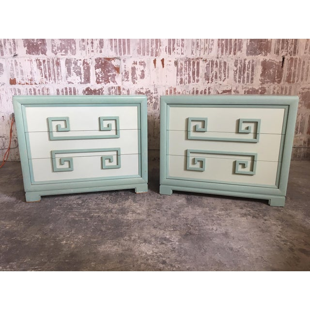 Pair of Kittinger Greek Key Three-Drawer Dressers For Sale - Image 10 of 10