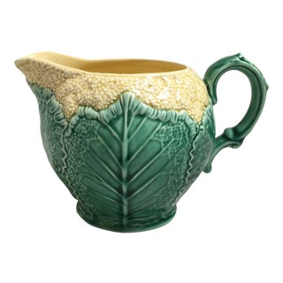 Wedgwood Majolica Cauliflower Ware Mini Pitcher For Sale