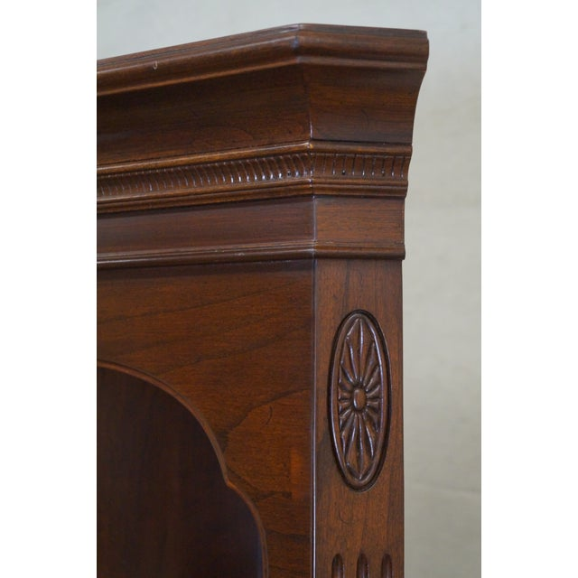Ethan Allen Georgian Court Solid Cherry Narrow Corner Cabinets - a Pair - Image 10 of 10