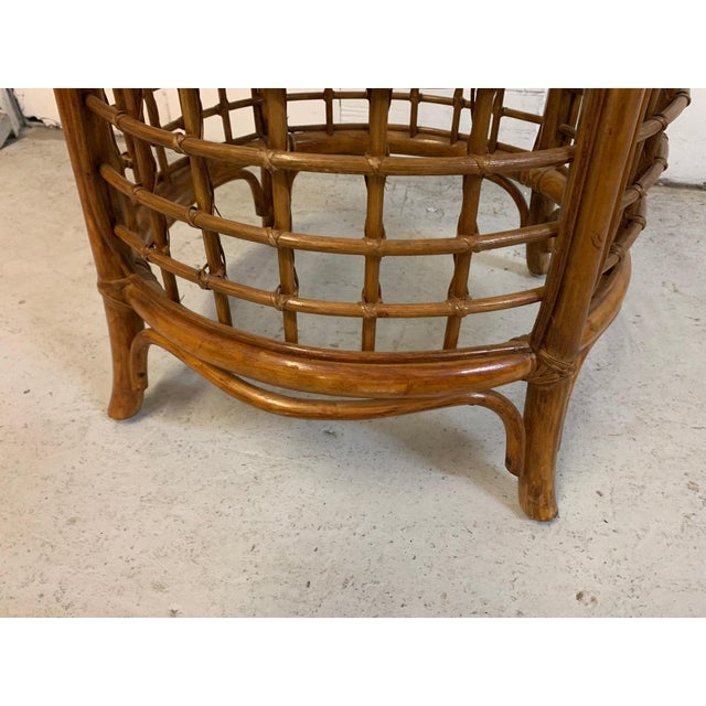 Brass Rattan and Brass Dining Set For Sale - Image 8 of 10
