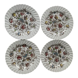 Staffordshire Bouquet Dinner Plates - Set of 4 For Sale