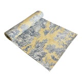 "Image of Custom French Country Farmhouse Toile Table Runner 110"" Long For Sale"