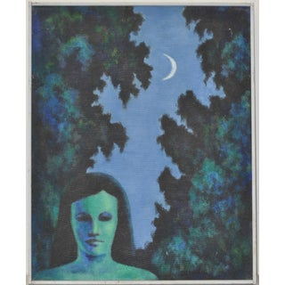 Eleanor Perry Vintage Painting, C.1971 For Sale