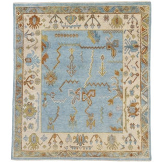 Contemporary Oushak Style Rug - 5′10″ × 6′7″ For Sale