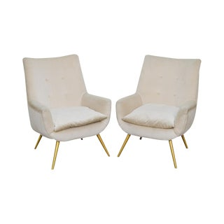 Mid Century Modern Italian Lounge Chairs - a Pair