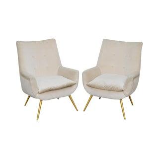 Mid Century Modern Italian Lounge Chairs - a Pair