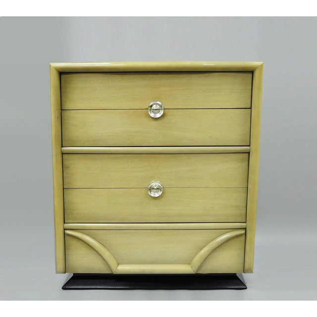 Vintage Tri-Bond Mid Century Modern Bone Dresser Chest Art Deco Gilbert Rohde Era For Sale - Image 11 of 11