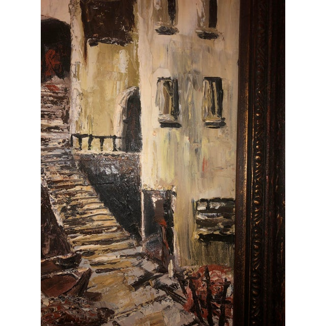 Early 21st Century Nautical Painting of French Seaside Fishing Village For Sale - Image 5 of 9