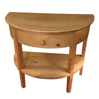 Restoration Hardware Pine Demilune Console Table For Sale