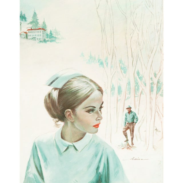 Chuck Miller Timberline Nurse Gouache on Card - Image 1 of 6