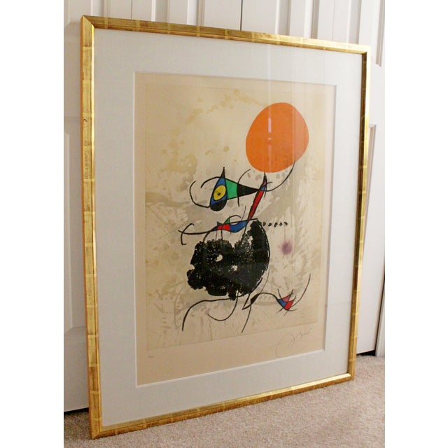 Mid-Century Modern Modern Miro Terre Atteinte Et Soleil Intact Color Etching Aquatint 16/50 COA '73 For Sale - Image 3 of 9