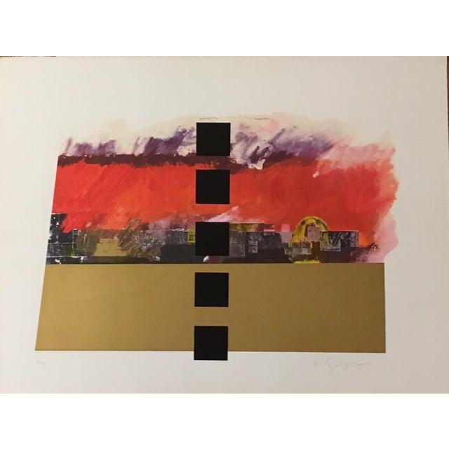 """Jerusalem Burns"" Serigraph by Dan Reisinger For Sale - Image 5 of 5"