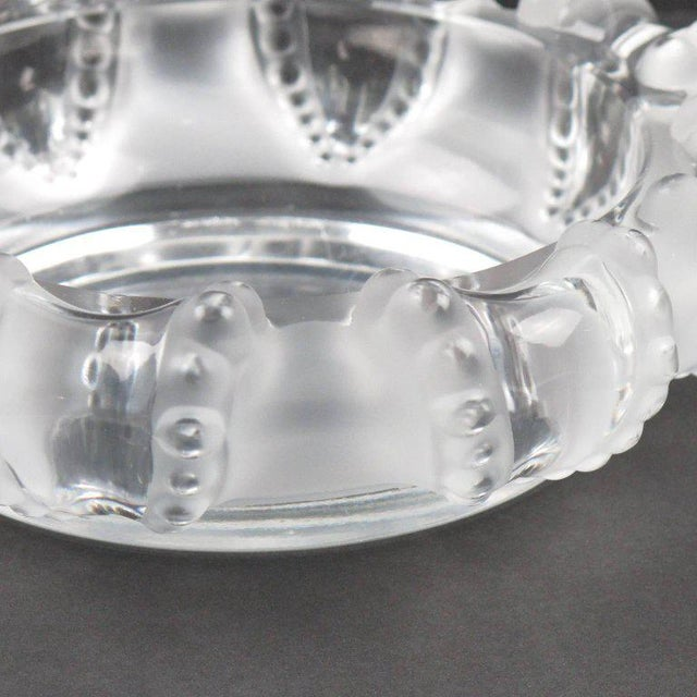 Lalique France Large Crystal Ashtray Bowl Dish For Sale In Atlanta - Image 6 of 8