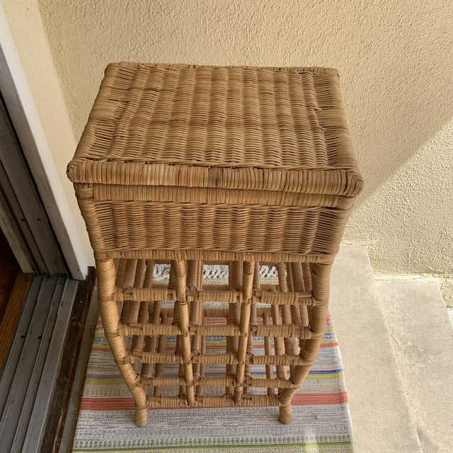 Fabulous natural wood wicker storage and bottle holder or display. Perfect for the kitchen, game room or bar. Holds...