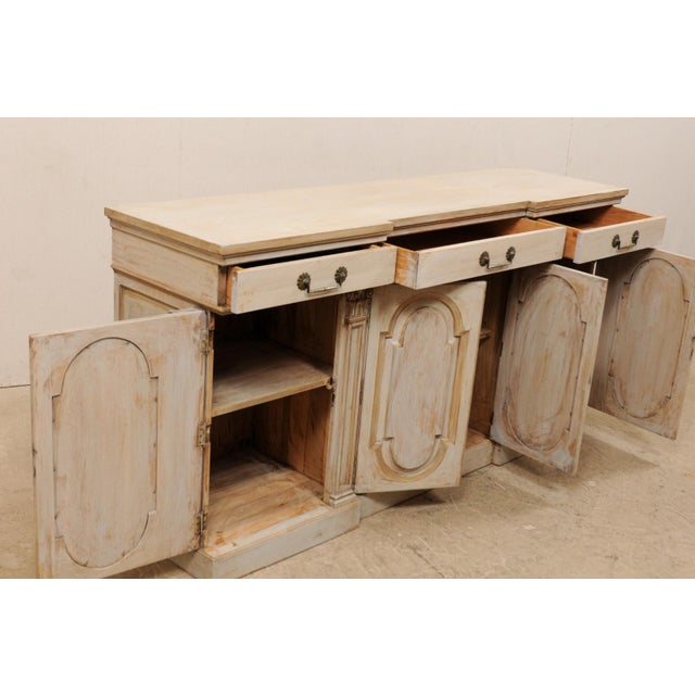 Mid-20th Century Painted Wood Buffet For Sale - Image 9 of 12