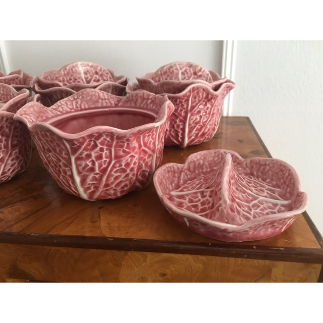 Vintage Secla Pink Cabbage Tureens / Kitchen Decor - Set of 5 For Sale In New York - Image 6 of 9
