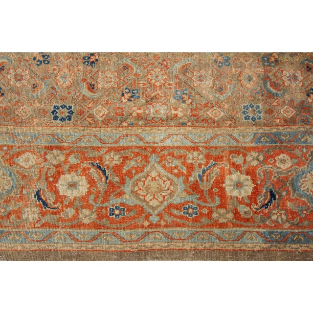 "Vintage Persian Rug, 9'5"" X 12'7"" For Sale - Image 11 of 12"