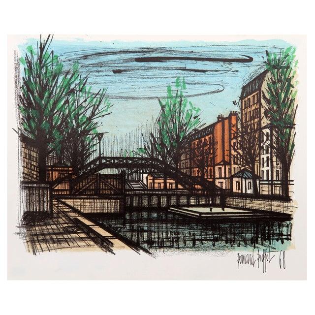 Wondrous Bernard Buffet Canal St Martin Lithograph Beutiful Home Inspiration Ponolprimenicaraguapropertycom