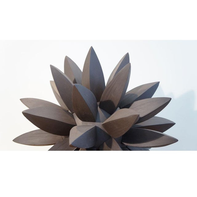 Mid-Century Modern Contemporary Ebony Star Sculpture by Titia Estes For Sale - Image 3 of 6