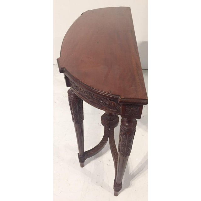 Antique Mahogany Demi-lune Table - Image 3 of 9