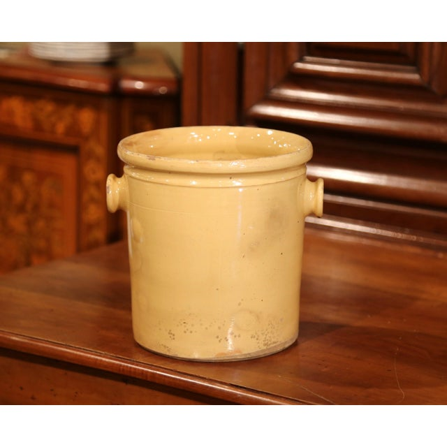 Place your kitchen utensils in this antique porcelain pot from Provence. Crafted in Southern France, circa 1860, the...