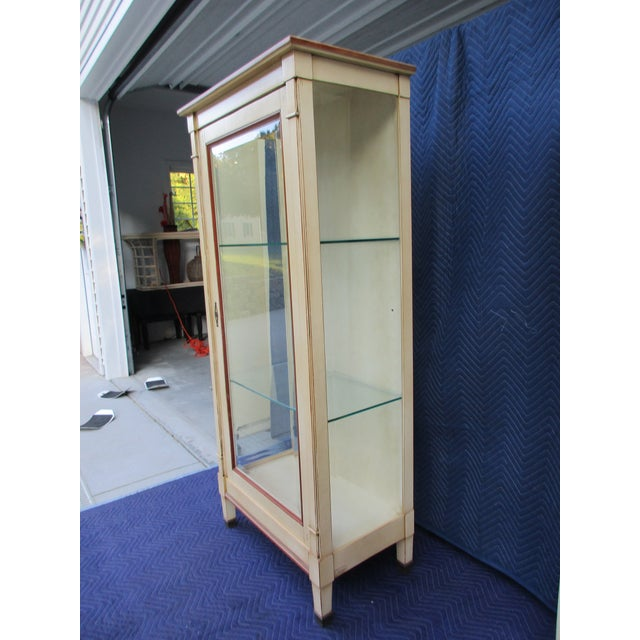 French 20th Century French Grange Lighted Display or Curio Cabinet For Sale - Image 3 of 13