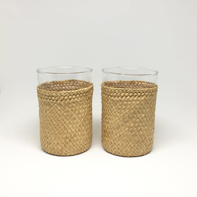 1980s Rattan-Cased Glasses - A Pair - Image 3 of 6