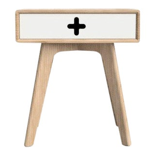 Danish Modern Maple Bedside Table For Sale