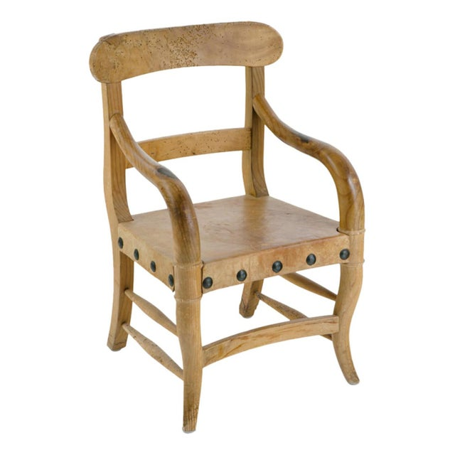 Rustic Michael Taylor Pine Chair For Sale - Image 9 of 9