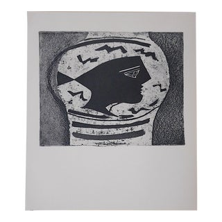 Vintage Lithograph By Georges Braque
