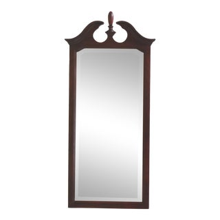 Pennsylvania House Cherry Beveled Glass Hall Mirror For Sale