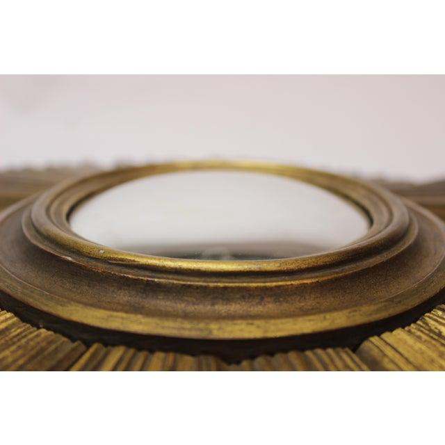 Gilt Sunburst Bullseye Mirror. A beautiful wall accent!