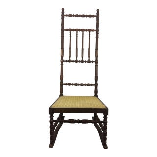 Napoleon III High Back Spindle Chair For Sale