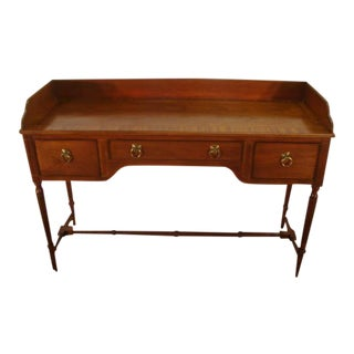 1990s Traditional Baker Mahogany Banded Top Sideboard For Sale