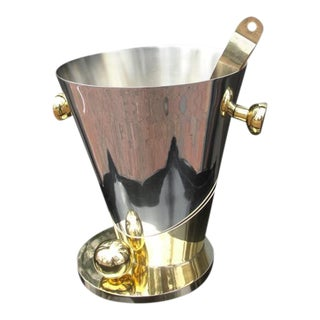 Art Deco Inspired Champagne Cooler Ice Bucket For Sale